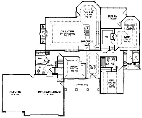 1 Floor House Plans 1 Story Ranch Style Houses One Story Ranch House Floor