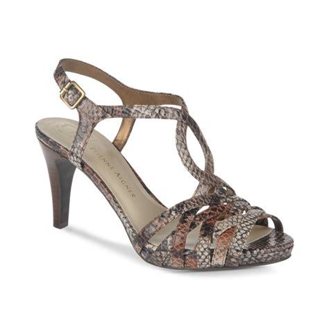 aigner sandals etienne aigner sandals in animal black brown lyst