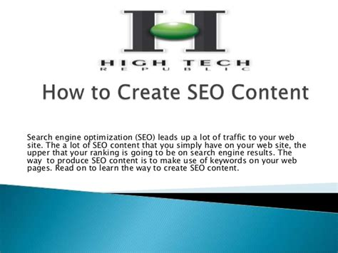 how to make your home high tech how to create seo content