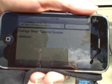 Iphone Garage Door Opener Iphone Arduino Garage Door Opener