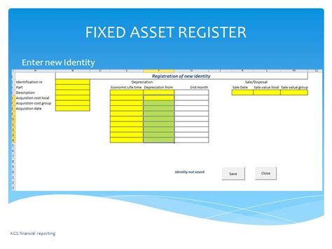 fixed asset register excel template fixed asset register of excel template fixed