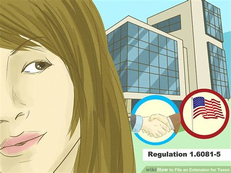 irs regulations section 1 6081 5 how to file an extension for taxes 14 steps with pictures