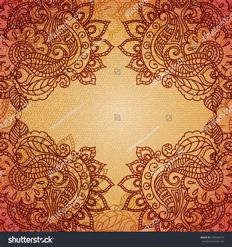 pattern and ornament in the art of india floral pattern background with indian ornament stock