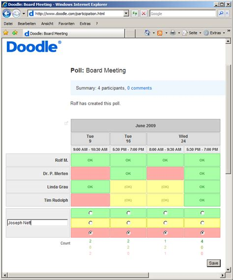 doodle scheduler meeting doodle review schedule get togethers easily