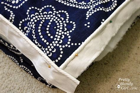 how to make a bench cushion with piping sew bench cushion with piping por la casa pinterest