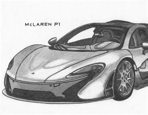 mclaren p1 drawing easy the gallery for gt mclaren p1 drawing