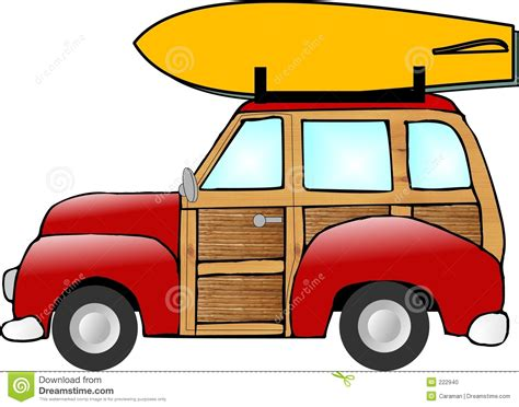 surf car clipart old woody station wagon stock illustration image of