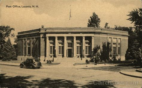Hton Nh Post Office by View Of Post Office Laconia Nh Postcard