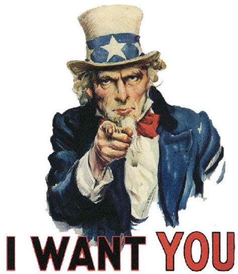 I Want You Meme - uncle sam s quot i want you quot poster image gallery know your
