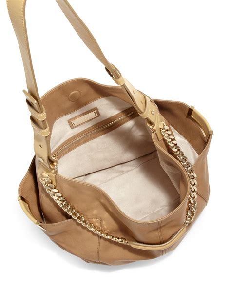 Shoulder Bag Jimmy Choo Premium lyst jimmy choo shoulder bag in brown