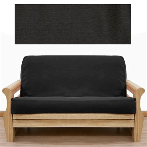 slipcover shop solid black futon cover