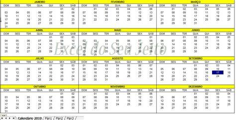 Inserir Calendã No Excel 2010 Inserir Um Calend 225 Completo Na Sua Planilha Excel Do