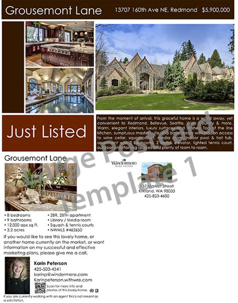 just listed postcard template wrearc windermere central