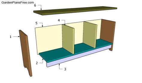 free storage bench plans wood working plan storage bench plan