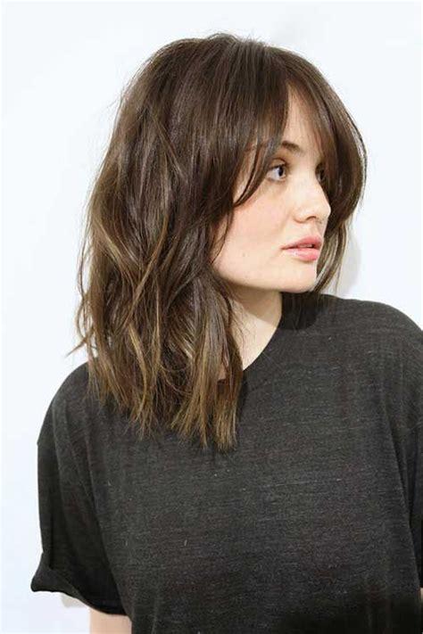 lob hair with side fringe 20 medium long length hairstyles beauty pinterest