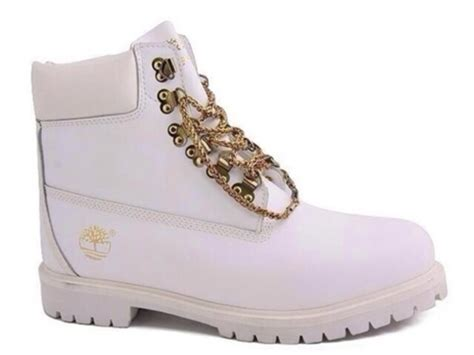 all white timberlands boots all white timberlands with gold chain www imgkid