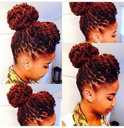 sophisticated styles for short locs pin by black hair information coils media ltd on updos