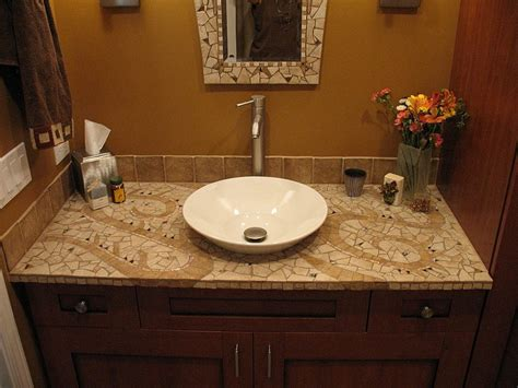 Bathroom Tile Countertop Ideas Amazing Tile Bathroom Countertop Tile Bathroom Countertop Diy Home Design Ideas Sl Interior Design