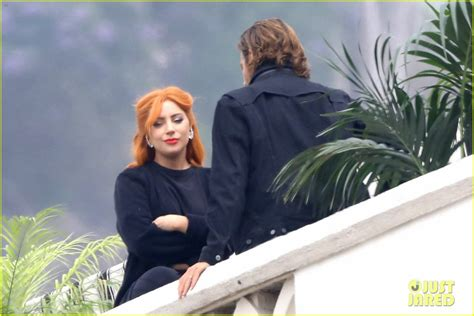 main actress in a star is born lady gaga bradley cooper start their week filming a