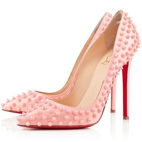 christian louboutin pigalle spiked 120mm pumps pink