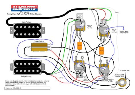 jimmy page wiring diagram wiring kit jimmy page les paul 174 style allparts uk