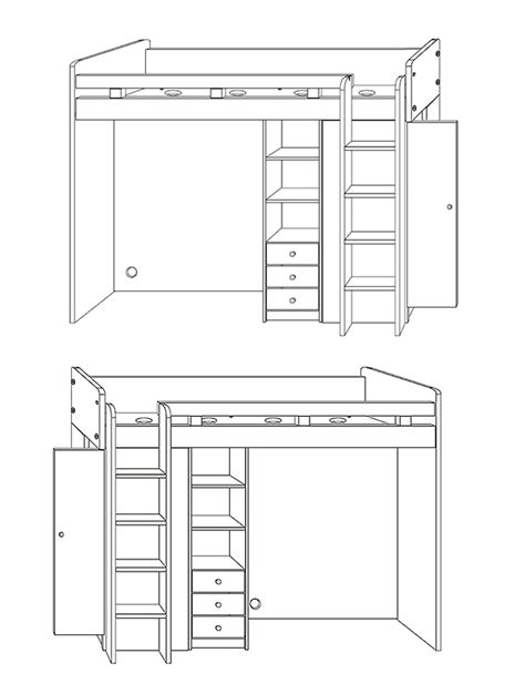 Hochbetten Mit Kleiderschrank by Hochbett Etagenbett Mit Kleiderschrank Und Schreibtisch