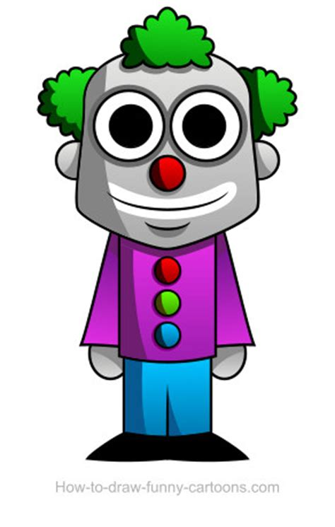clown drawing sketching vector