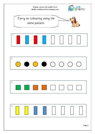 shape colour patterns 2