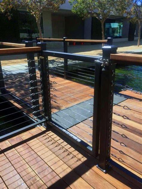 boat dock steel cable boat dock railing dock railing ideas wahoo docks