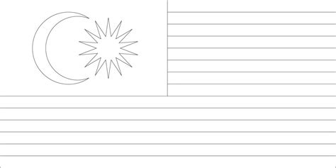 malaysia flag and map free coloring pages
