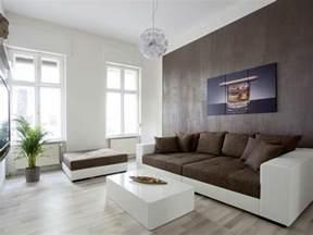 wohnzimmer weiß braun wohnzimmer modern streichen
