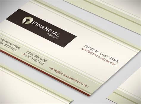 financial planning business cards templates financial planner planning consultant business card