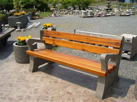 concrete bench forms park bench with arm rests mackay precast products