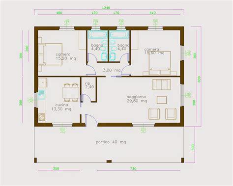 Progetto Casa 130 Mq by Progetti Di In Legno Casa 103 Mq Terrazza Coperta