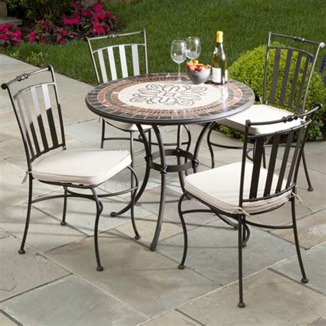 marble patio furniture 17 best images about outdoor wrought iron table chairs on