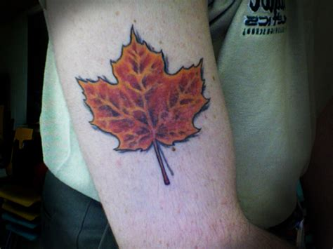canadian maple leaf tattoo designs leaf tattoos and designs page 17
