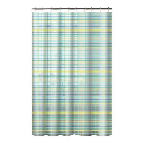 printed shower curtain creative home ideas printed peva plaid 70 in w x 72 in l