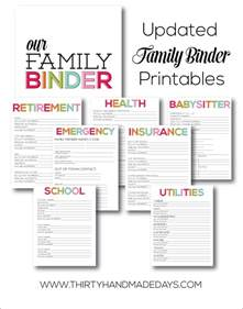 printable updated family binder