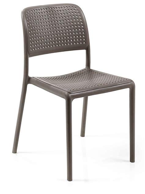 sedie color tortora bora bistrot sedia in resina con fibra di vetro