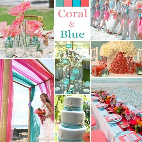 coral and blue wedding theme discover and save creative ideas