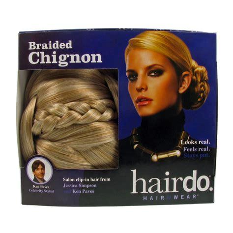 bhd wedding jessica simpson hairdo chignon clip in bun chignon hair bun jessica simpson clip in synthetic braided