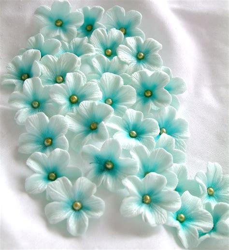 Sugar Paste For Cake Decorating by Gumpaste Cake Decorations Blue Gum Paste Flowers 25