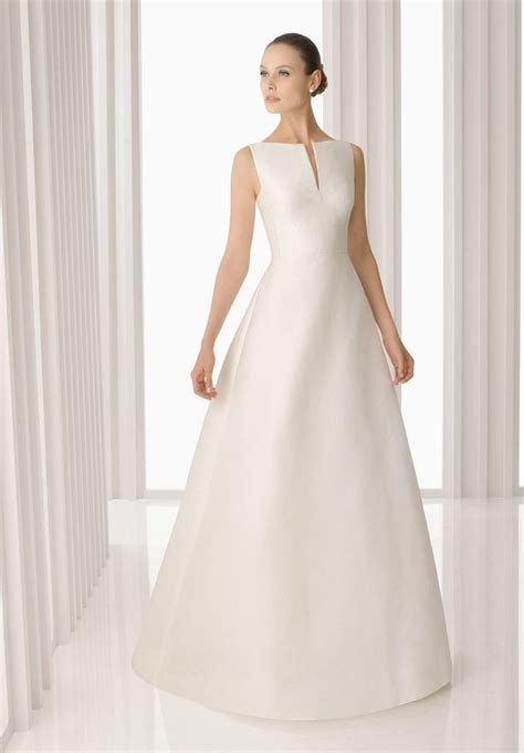 hochzeitskleid einfach simple a line wedding dress sophisticated and