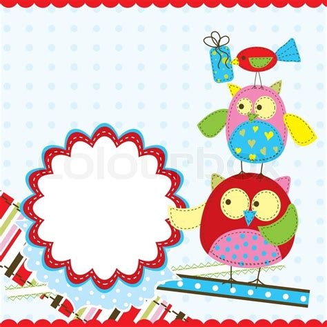 birthday card from baby template template birthday greeting card vector illustration