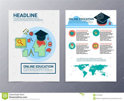 brochure design templates for education education and school brochure design template vector flyer stock vector image 55726580