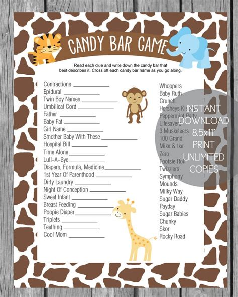 Bar For Baby Shower Printable by Jungle Baby Shower Bar Print It Baby