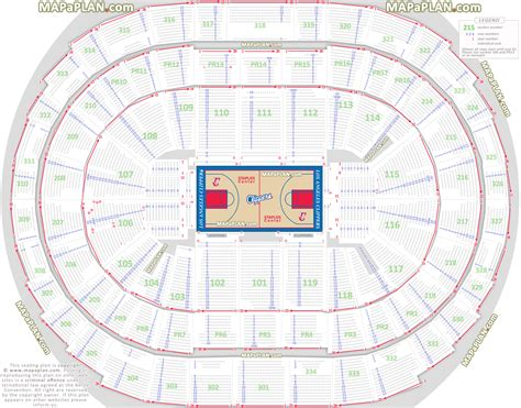O2 Floor Plan by Staples Center Los Angeles Clippers Basketball Seat