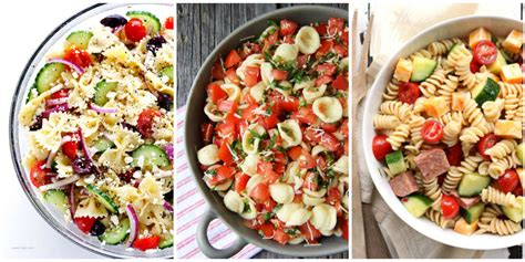 cold salad recipes cold ziti pasta salad