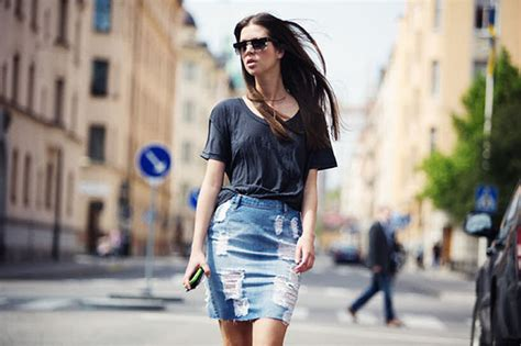 denim skirts trend 2018 fashiongum