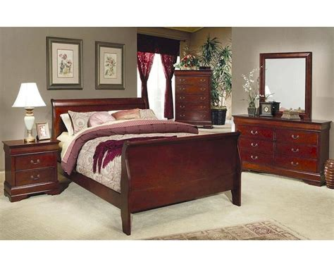 coaster bedroom furniture coaster louis philippe bedroom set in cherry co 200431set